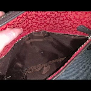 Coach Bags - Coach Cherry Red Signature Makeup Bag F05094